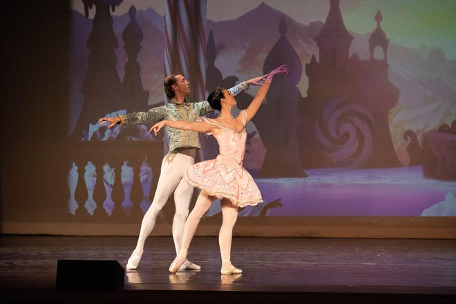 """Joseph LaChance and Lissa Curtis perform in """"The Nutcracker"""" at The Music Hall. The pair will return to dance together again as Kitri and Basilio, the lead roles in Safe Haven Ballet's production of """"Don Quixote"""" at The Music Hall on April 8 and 9."""