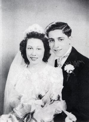 Michael Fiandaca was on leave from the service when he married Mary Vinciguerra in Portsmouth's Immaculate Conception Church on Feb. 15, 1942. The Fiandaca family donated this photo to the Athenaeum's collection.