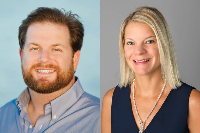 Harrison Vaughn, left, and Molly Young ran for Tequesta Village Council Seat 2 in Tuesday's municipal election.
