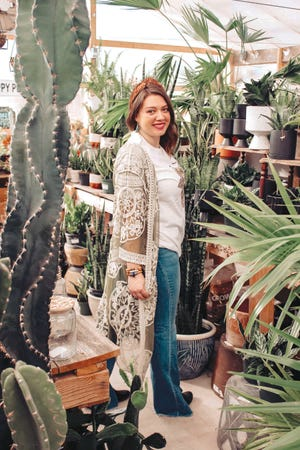 Shelbey Kendall of Haviland launched her online specialty story on February 11. She sells all types of intereting clothing, as well as special wooden and stone bead bacelets and other items from The Happy Homestead Store.