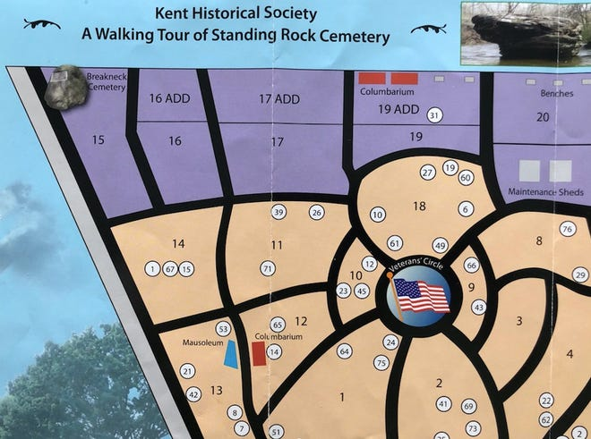 A walking tour guide for Standing Rock Cemetery.