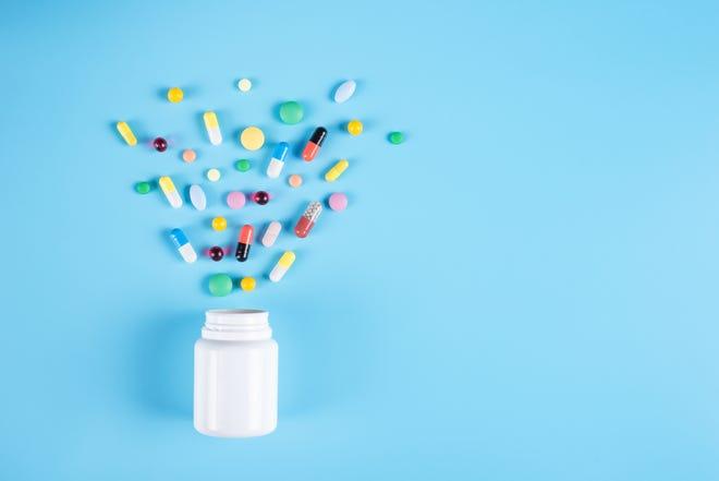 Assorted pharmaceutical medicine pills