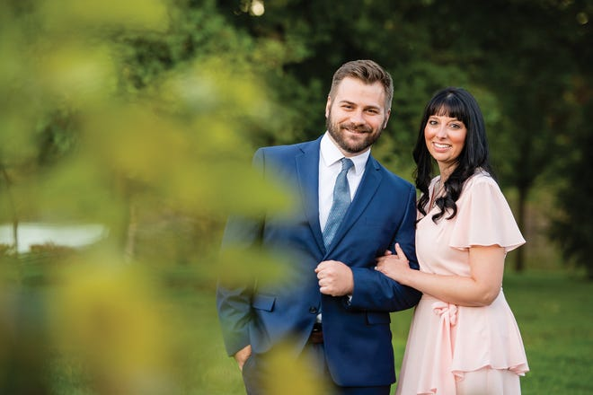 Allison Rowe with fiancé Andy Gromofsky