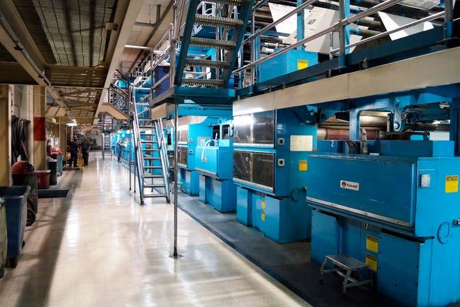 The Sarasota Herald-Tribune's Goss Metroliner printing press was installed at 1800 University Parkway in 1984.