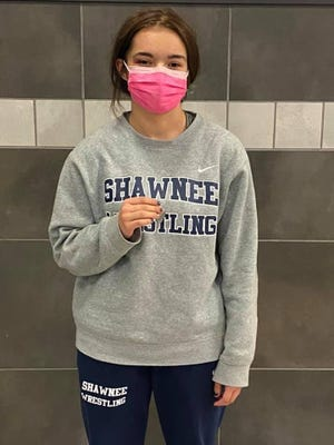 Shawnee High School freshman wrestler Selah Citizen poses after taking second at regionals last weekend.
