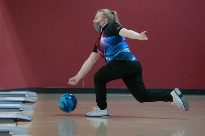 After being in a car accident just more than a week ago, Kaitlin Evans has come back strong with two wins this week, including Wednesday's Washburn Rural Triangular at West Ridge Lanes. Evans finished with a 623 series to win by 24 pins over teammate Makenzie Millard.