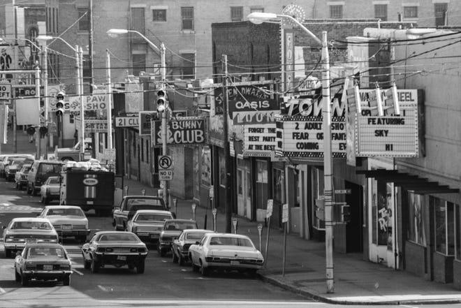 Bars on Hay Street on Jan. 29, 1977.