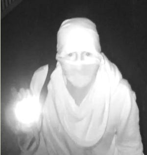 Fayetteville police are in search of man seen wearing knee pads and a Casio G-Shock watch committing burglaries.