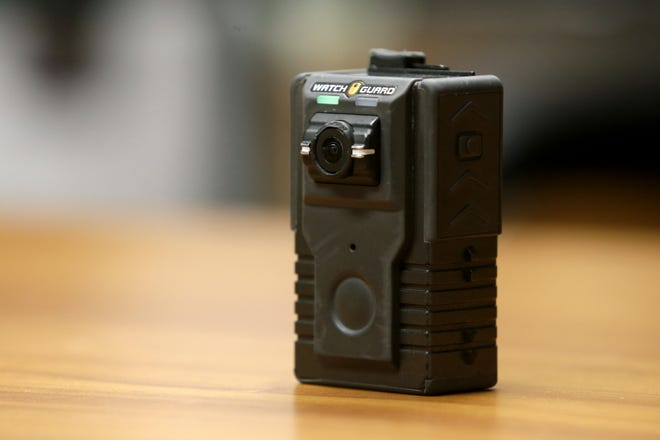 This is one of the button-activated WatchGuard body cameras that all Whitehall Division of Police officers in uniform or on patrol have worn since July 2018. The Hilliard Division of Police could add body-worn cameras to their uniforms, but city leaders indicated that likely would not happen until next year.