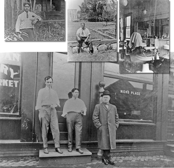 Nick Botti – or Nick the Barber, as he was known – is shown with two friends in front of his original barbershop on Goodale Boulevard in Flytown. He later moved his family to Grandview Heights and opened ASAP across from the Grandview library.