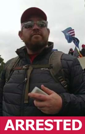 A law enforcement source confirmed this FBI photo of a suspect from the Jan. 6 insurrection at the U.S. Capitol is Taylor James Johnatakis, 37, of Kingston.