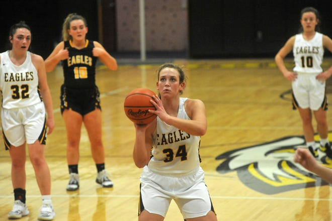 Colonel Crawford's Allison Teglovic combined for 29 points in two tourney games last week as the Lady Eagles won their first sectional title since 2013.