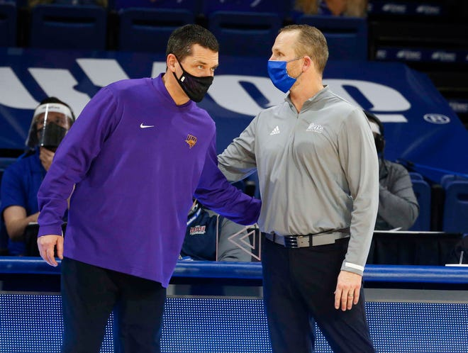 Ben Jacobson and Darian DeVries were supposed to me again Friday at Arch Madness, but the a positive COVID-19 test within the Panthers program cancelled the game.