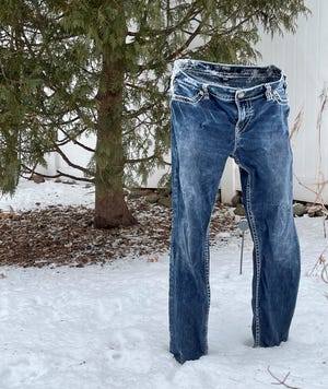People are having fun with the subzero temperatures by doing something called the frozen pants challenge.