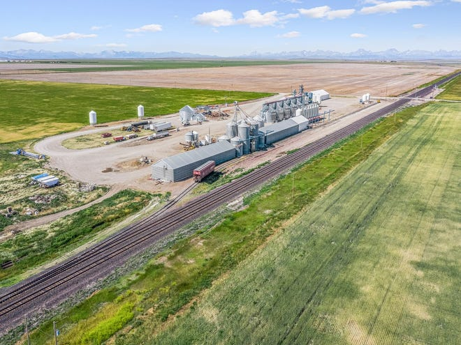 The Pardue Grain elevator and processing facility in Glacier County. A newly formed joint venture called AgroLink, LLC is purchasing the facility.