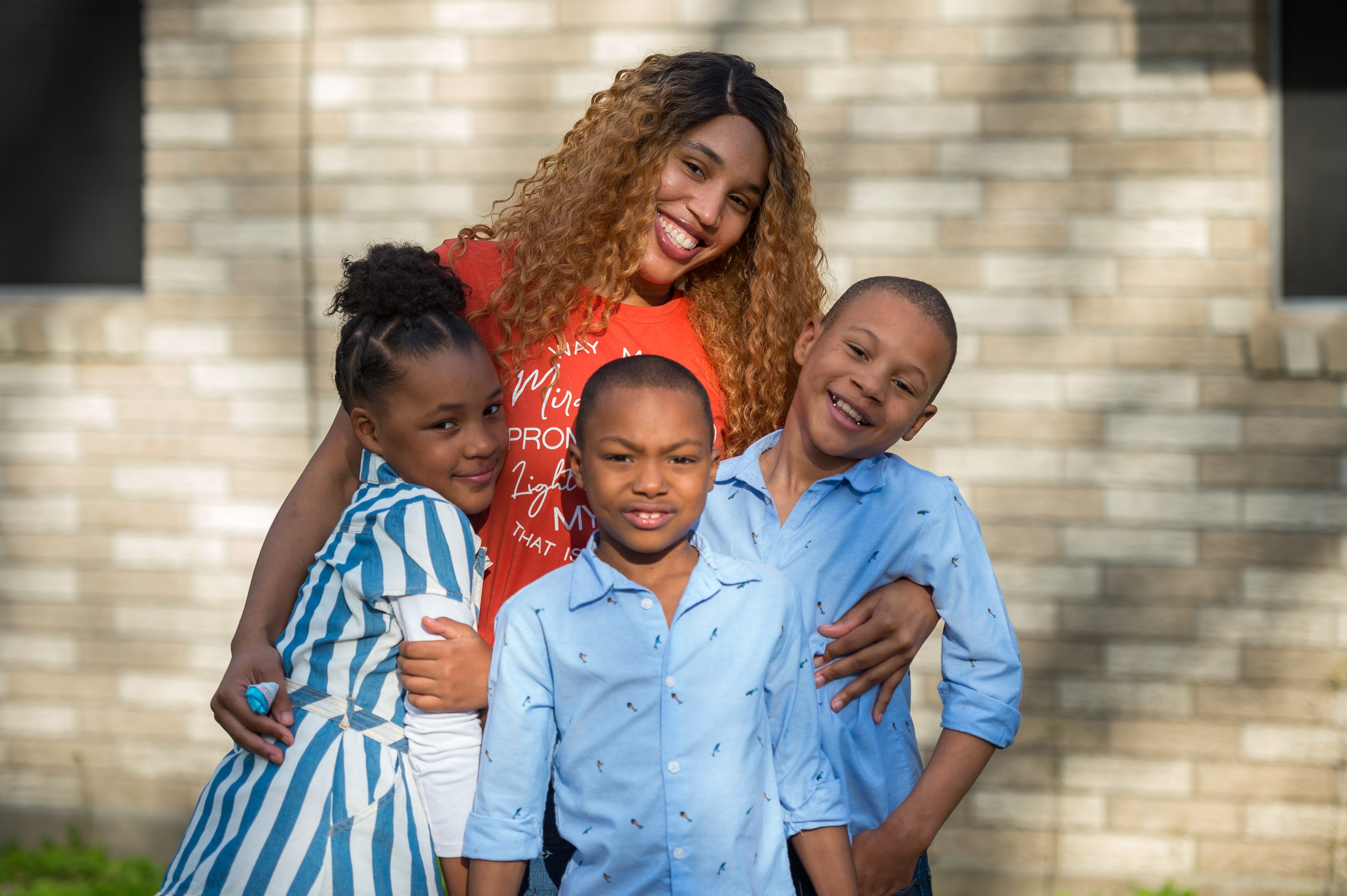 Phaedra Simon and family