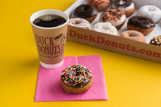 Duck Donuts products are fresh and made-to-order. The popular doughnut franchise is opening a Louisville location in February 2021.