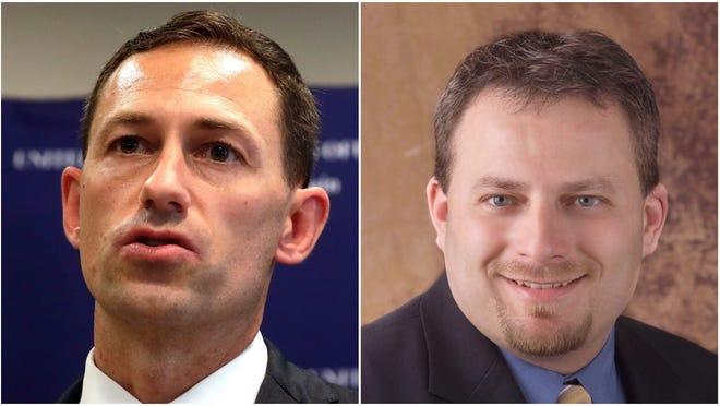 Matthew Krueger, left, and Scott Blader, right