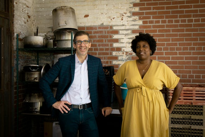 "John O. Morisano and chef Mashama Bailey own The Grey in Savannah. Their new book, ""Black, White and The Grey,"" details the at-times difficult journey of the celebrated restaurant. (Courtesy Lorena Jones Books)"