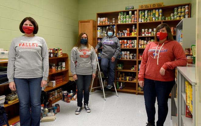 Licking Valley High School staff members Shona Garver, Courtney Lichtenauer, Denise Mullet, and Danielle Hammond saw a need in their community and started the Panther Pantry at the school. Thanks to donations of food and funds the pantry has helped the families of students and older community members without children during the pandemic.