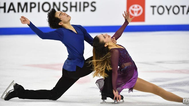 Katarina Wolfkostin and Jeffrey Chen have been training together at Novi Ice Arena since 2019.