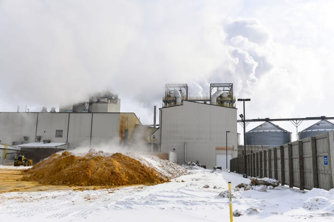 Corn is processed on Thursday, Feb. 11, at Poet Biorefining in Chancellor, SD.