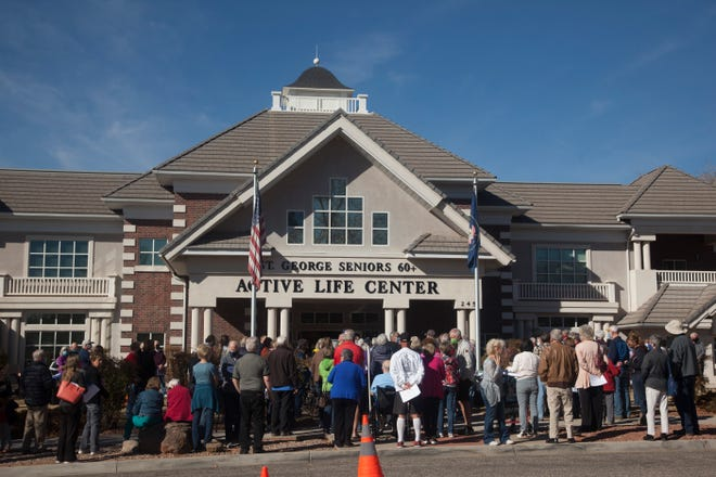 Medical workers from the Southwest Utah Public Health Department administer more than 3000 COVID-19 vaccinations to Washington County residents at the St. George Active Life Center Thursday, Feb. 11, 2021.