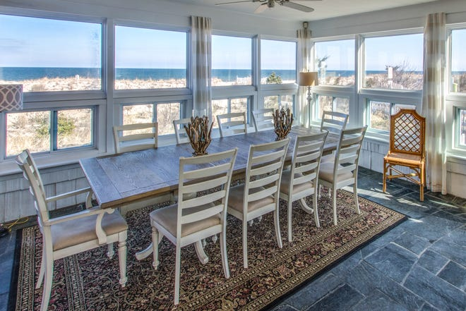 Ocean-front dining at the most expensive home for sale at the Delaware beaches, 1 and 3 Cullen St., Rehoboth.