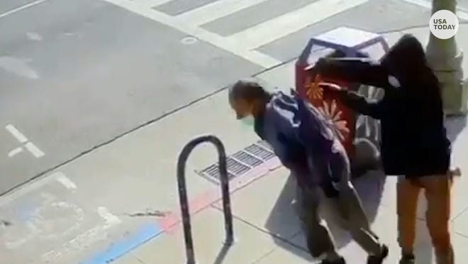 """A 91-year-old was shoved to the ground in Oakland's Chinatown. The suspect was arrested """"in connection with violent attacks on three people in Chinatown,"""" according to Oakland Police."""