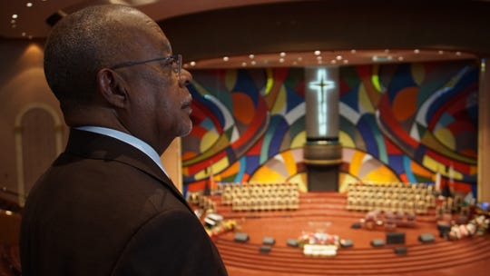 """""""Finding Your Roots"""" host Henry Louis Gates Jr. visits West Angeles Church of God in Christ in Los Angeles as part of """"The Black Church: This Is Our Story, This Is Our Song."""" Gates is host, executive producer and writer of the two-night PBS documentary."""