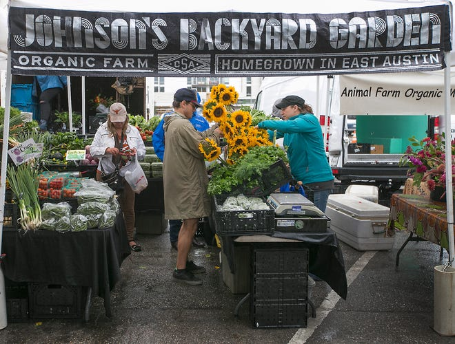 The Sustainable Food Center Farmers Market Downtown takes place each Saturday at Republic Square in Austin.