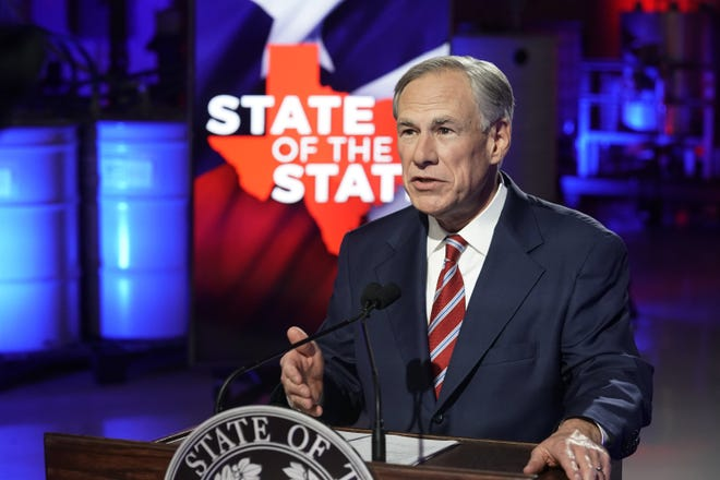 Gov. Greg Abbott, shown here Feb. 1 in Lockhart, has vowed to bring Texas into compliance with the longstanding lawsuit against the state  foster care system. [Bob Daemmrich/Pool Photo via AP]