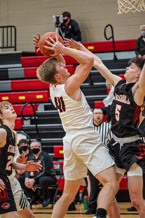Easton Johnson had 10 rebounds and two points for Gilbert in a 67-51 loss to No. 5 (3A) Carroll Thursday at Gilbert.