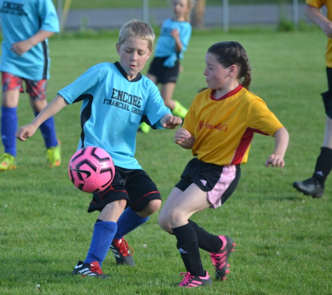 Cheboygan youth soccer players compete during a game from the 2019 season. The Cheboygan Soccer Association will be holding registration for this year's season March 16-18 at the rec center.