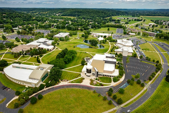 Central Ohio Technical College Newark campus, aerial photo provided by The Ohio State University at Newark.