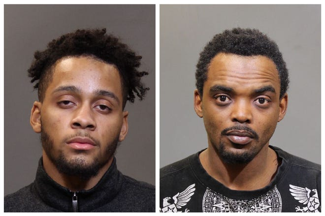 Taashawn Smith, left, and Mark Stevens, are each being sought by Columbus police in connection with separate fatal shootings in the city.