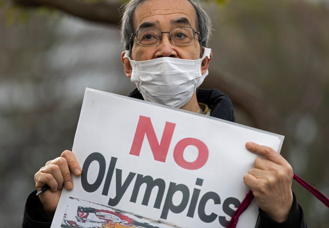 Beyond the coronavirus pandemic, there have been protests about the Tokyo Olympics because of the cost and other factors.