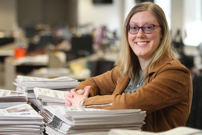 Columbus Dispatch reporter Megan Henry photographed Thursday, Feb. 11, 2021