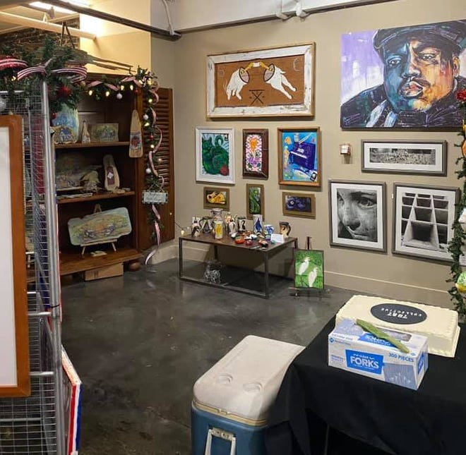 Works by local artists are on display at he 7887 Collective in Houma.