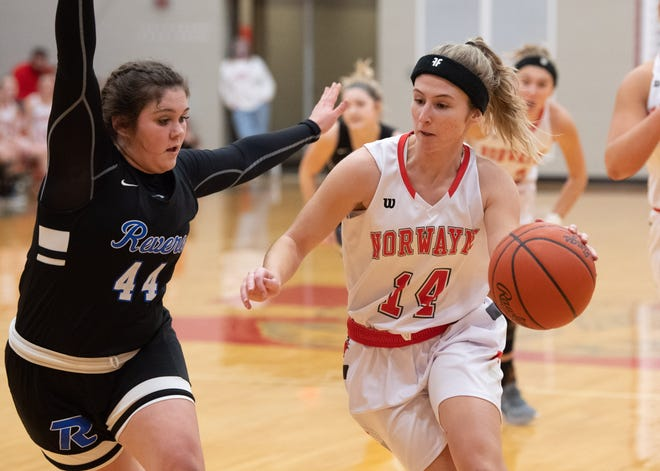 Norwayne's Olivia Stanley in action against Revere.
