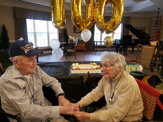 Tom and Nell Harris have been married for 75 years. World War II Veteran Tom Harris celebrated his 100th birthday last month at Morning Pointe in Spring Hill.