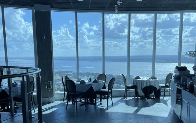 This photo was taken Thursday afternoon, Feb. 11, 2021, of some of the tables inside the Top of Daytona restaurant as well as the spectacular views it offers. The restaurant is on the 29th floor of the 343-foot-tall Peck Plaza condo tower on A1A in Daytona Beach Shores, which is currently the tallest building in the Volusia-Flagler area.