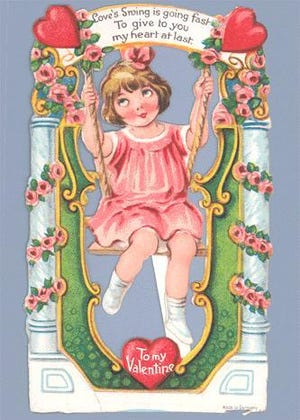 This valentine is from the 1920s.