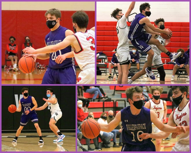 TJ Schmalzle (top left) Jack Smith (top Right) Michael Simon (bottom left) and Wyatt Peifer (bottom right) are among the Paupack players making contributions in recent outings. At 2-6, the Bucks hope to post a few more wins before the season comes to a close.