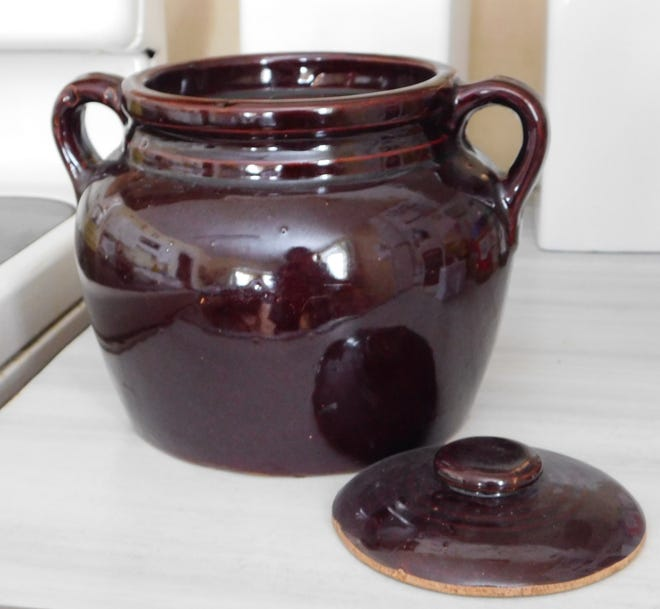 Dry beans are inexpensive and rich in nutrients and they have a long shelf life. While can be cooked in traditional bean pot, such as the one shown here, using a pressure cooker dramatically reduces cooking time.