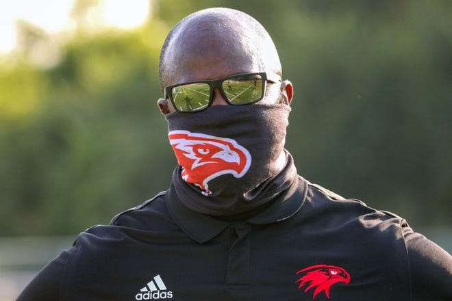 """After five seasons serving as offensive coordinator under former coach William Harris, new head coach Roshaad Byrd said he is ready to """"hit the ground running"""" with the Falcons in 2021,"""