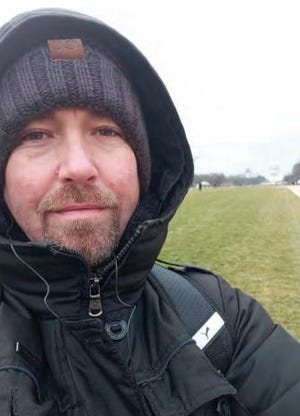 Adam Avery Honeycutt is shown near the U.S. Capitol on Jan. 6 in a photo that was posted on his Facebook page, according to the U.S. Attorney's Office.