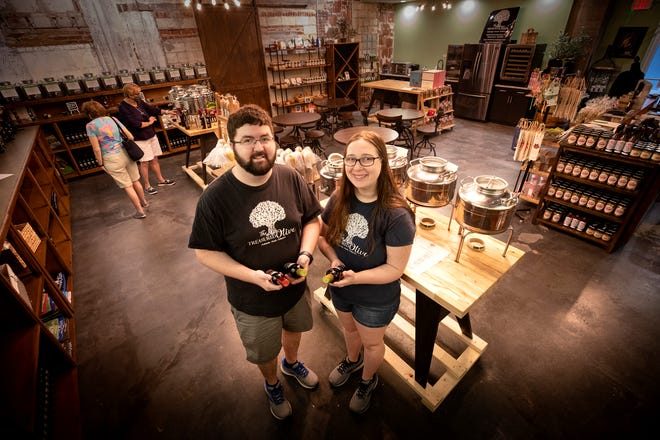 "Nathaniel Briggs and Cassie Briggs own The Treasured Olive in downtown Winter Haven. The Briggs' decided to promote downtown as an ""up and coming"" spot by launching Final Fridays, a new program designed to promote downtown businesses and local artists."