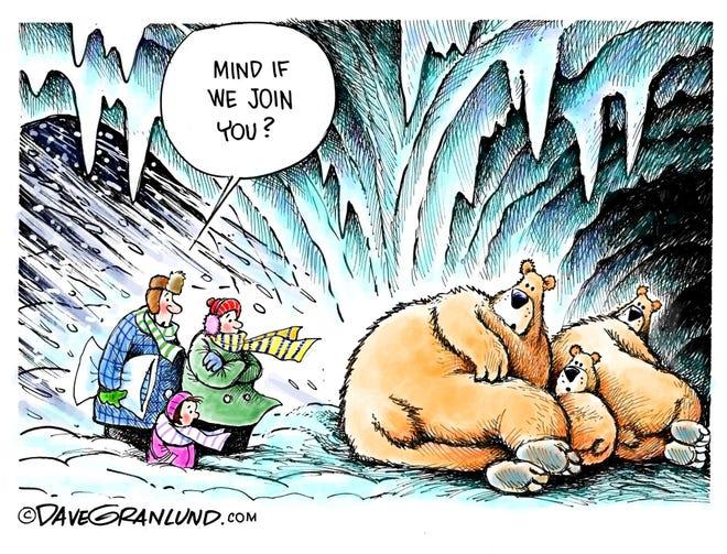 Dave Granlund cartoon on frigid temperatures
