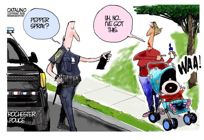 Ken Catalino editorial cartoon.